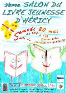 affiche dernière version salon du livre hericy