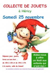 Collecte de jouets @ Mairie - Salle du Conseil | Héricy | Île-de-France | France