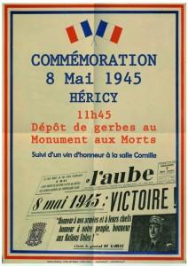 Commémoration du 8 Mai 1945 @ Monument aux Morts   Héricy   Île-de-France   France