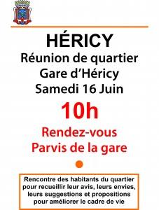 Réunion de quartier devant la gare @ gare d'hericy | Héricy | Île-de-France | France