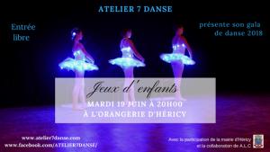 Atelier 7 danse @ Salle de l'Orangerie