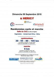 Randonnée Cyclo & Marche @ Salle du Clos  | Héricy | Île-de-France | France