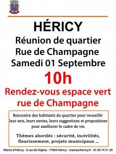 Réunion de quartier rue de Champagne et ruelle aux ânes @ l'espace vert  | Héricy | Île-de-France | France