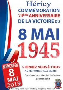 Commémoration du 8 mai 1945 @ Monument aux morts