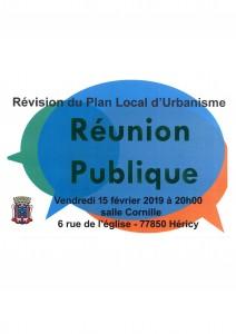 """Réunion Publique """"Révisions du Plan Local d'Urbanisme"""" @ Salle Cornille"""