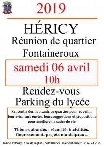 Réunion de quartier @ Fontaineroux, parking du lycée