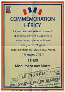 Commémoration de la guerre d'Algérie @ monument aux morts