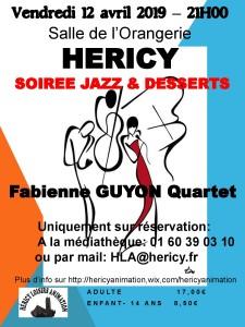 Soirée jazz et desserts @ Salle de l'Orangerie