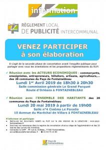 Réunion d'information sur le RLPi @ Salle commission générale Le Grand Parquet