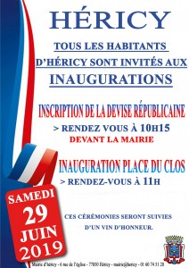 Inauguration de l'inscription de la devise républicaine @ Mairie d'Héricy