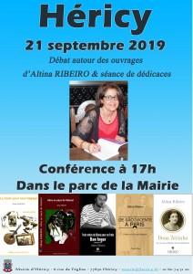 Conférence madame RIBEIRO Altina @ Parc de la Mairie