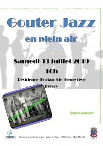 Goûter Jazz en plein air @ Résidence Korian Sainte Geneviève