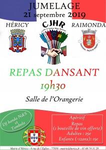 Repas Dansant Héricy - Raimonda @ Salle de l'Orangerie