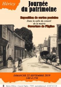 Journée du patrimoine @ Mairie d'Héricy