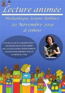 Lecture animée @ Médiathèque Jeanne Rollince