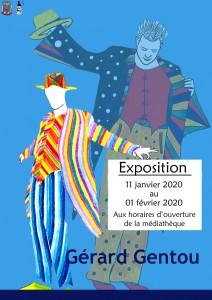 Exposition de Gérard GENTOU @ Médiathèque Jeanne Rollince