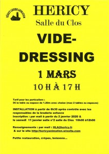 VIDE-DRESSING @ Salle du Clos