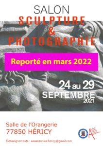 Salon de Sculpture et Photographie ( événement reporté ) @ Salle de l'Orangerie