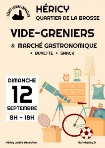 Vide-greniers et marché gastronomique @ Quartier de la Brosse