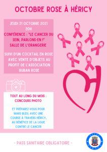 """Conférence """"le cancer du sein, parlons-en !"""" @ Salle de l'Orangerie"""